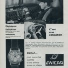 Enicar Watch Company Switzerland Vintage 1964 Swiss Ad Suisse Advert Horlogerie
