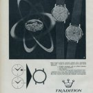 1964 Tradition Watch Company Reusser S.A. 1964 Swiss Ad Suisse Advert Horlogerie Horology