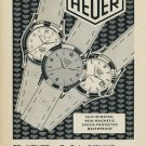 1953 Heuer Watch Company Ed Heuer & Co. SA Vintage 1953 Swiss Ad Suisse Advert