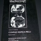 Conrad Marca-Relli Vintage 1970 Art Exhibition Ad Advert Marlborough-Gerson Gallery, NY