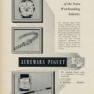 Audemars Piguet Watch Company Vintage 1953 Swiss Ad Switzerland Suisse Advert