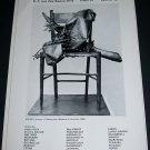 1969 Sculptor Manzu Vintage 1969 Art Ad Advert Claude Bernard Paris