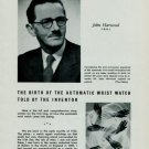 1951 John Harwood The Birth of the Automatic Wrist Watch 1951 Swiss Magazine Article Horology