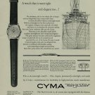 Cyma Watch Company Navystar Advert Vintage 1956 Swiss Ad Switzerland Suisse Advert