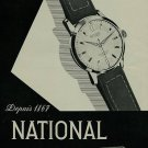 1956 National Watch Company Switzerland Vintage 1956 Swiss Ad Suisse Advert
