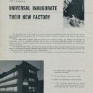 1956 Universal Watch Company Inaugurate Their New Factory Vintage 1956 Swiss Magazine Article