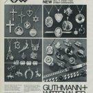 1976 Jewelers Guthmann + Wittenauer Pforzheim Germany Vintage 1976 Swiss Ad Suisse Advert