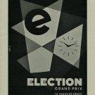 Election Watch Company Vintage 1956 Swiss Ad La Chaux-de-Fonds Switzerland Suisse Advert