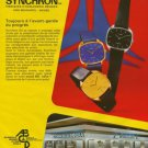 Synchron Watch Company Aureole Borel Cyma Doxa 1976 Swiss Ad Suisse Advert