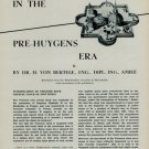 Precision Timekeeping in the Pre-Huygens Era Part II 1954 Swiss Article Horology
