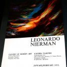 1971 Leonardo Nierman Vintage 1971 Art Exhibition Ad Galeria Tasende Acapulco, Mexico