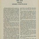 1954 Solvil Sports Stop Watch Vintage 1954 Swiss Magazine Article Horology Horlogerie