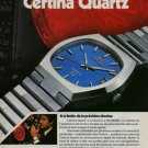 Certina Watch Company Grenchen Switzerland Vintage 1976 Swiss Ad Suisse Advert