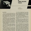 L. Defossez - The Interpretation of Timing Machine Traces, Part III 1954 Swiss Magazine Article