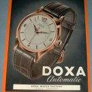 1953 Doxa Watch Company Vintage 1953 Swiss Ad Le Locle Switzerland Suisse Advert