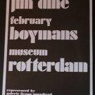 Jim Dine Vintage 1971 Art Exhibition Ad Museum Rotterdam