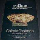 1972 Sculptor Zuniga Vintage 1972 Art Ad Advertisement Galeria Tasende
