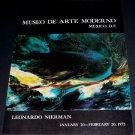 1972 Leonardo Nierman Vintage 1972 Art Exhibition Ad Museo de Arte Moderno