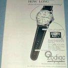 1951 Zodiac Watch Company Le Locle Switzerland 1951 Swiss Ad Suisse Advert