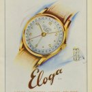 Eloga Watch Company Vintage 1949 Swiss Ad Lengnau Bienne Switzerland Suisse Advert