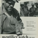 1949 Montilier Watch Company Switzerland Vintage 1949 Swiss Ad Suisse Advert