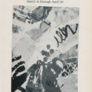 Jan Voss 1985 Paris Art Exhibition Ad Advertisement Galerie Adrien Maeght