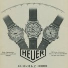 1949 Heuer Watch Company Bienne Switzerland Vintage 1949 Swiss Ad Suisse Advert Horology