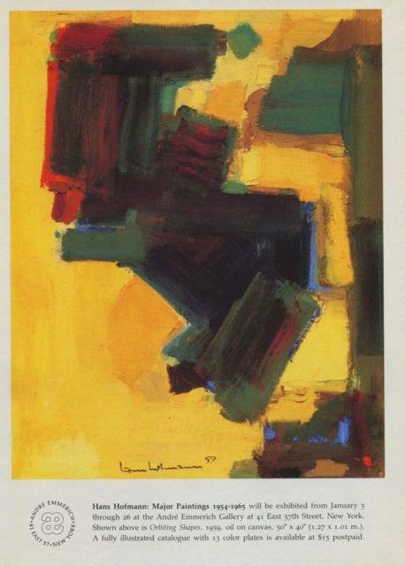 Hans Hofmann 1985 Art Exhibition Ad Orbiting Shapes