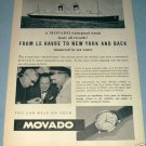 1955 Movado Watch Company Switzerland  Vintage 1955 Swiss Ad Suisse Advert Horlogerie