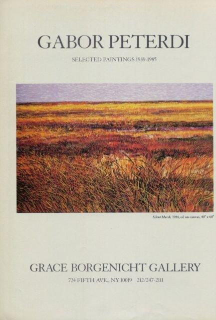 Gabor Peterdi 1985 Art Exhibition Ad Silent Marsh