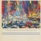 LeRoy Neiman The Plaza Square Advert 1985 Art Ad Advertisement