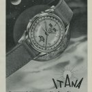 1949 Itana Watch Company Geneva Switzerland Vintage 1949 Swiss Ad Suisse Advert