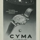 Cyma Watch Company Vintage 1949 Swiss Ad Switzerland Suisse Advert Horlogerie