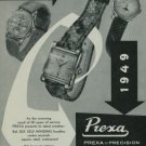 1949 Prexa Watch Company 30 Year Anniversary Vintage 1949 Swiss Ad Suisse Advert Switzerland