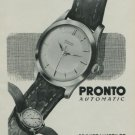 1949 Pronto Watch Company Switzerland Vintage 1949 Swiss Ad Suisse Advert Horology