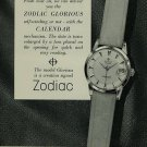 1956 Zodiac Watch Company Calame & Cie Switzerland Vintage 1956 Swiss Ad Suisse Advert