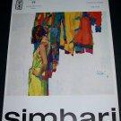 1968 Nicola Simbari Vintage 1968 Art Ad Advertisement Galleria 88 Roma