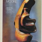 Sculptor Henry Moore Vintage 1983 Art Ad Mother and Child:Hood