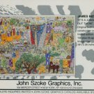 1986 James Rizzi It's a Jungle Out There Vintage 1986 Art Ad Advertisement