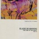 Elaine de Kooning The Time of the Bison 1986 Art Exhibition Ad Advert Gruenebaum Gallery, NY