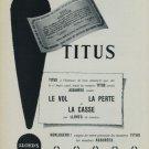 1956 Titus Watch Company Lloyds de Londres 1956 Swiss Ad Lloyd's of London Suisse Advert Horlogerie