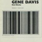 Gene Davis 1980 Art Exhibition Ad Black Jack Hokin Gallery, Chicago