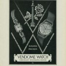 1949 Vendome Watch Company Neuchatel Switzerland Vintage 1949 Swiss Ad Suisse Advert