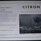 1964 Minna Citron Moon's Edge Vintage 1964 Art Exhibition Ad Advert Tasca Gallery