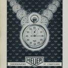 1956 Heuer Watch Company Switzerland Vintage 1956 Swiss Ad Suisse Advert Horology Horlogerie