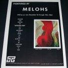 Melohs Black Velvet Vintage 1964 Art Exhibition Ad Afoofa-ism Tasca Gallery
