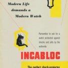 1949 Incabloc Company Switzerland Vintage 1949 Swiss Ad Suisse Advert Horlogerie Horology