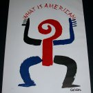 Alexander Calder What Is American Vintage 1958 Art Ad