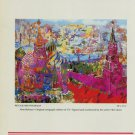 LeRoy Neiman Red Square Panorama Advert 1987 Art Ad Advertisement