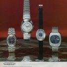 Aureole Watch Company Switzerland Vintage 1973 Swiss Ad Suisse Advert Horology
